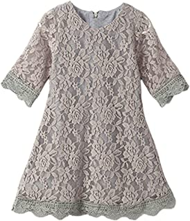 Flower Girl Lace Dress Country Dresses Sleeves 1-6 7-16