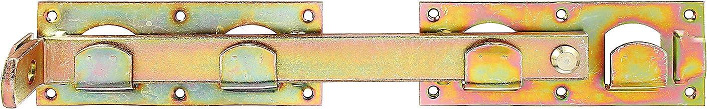 GAH-Alberts 210625 slaggrendel voor dubbele poort, in de uitvoeringen glad of gehamerd, elektrolytisch geel verzinkt, 423 ...