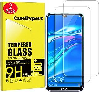 CaseExpert 2-pack – Huawei Y7 Prime 2019/Y7 Pro 2019 härdat glas, härdat glas kristallklart skärmskydd skydd och putsduk f...