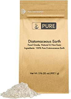 Pure Organic Ingredients 100% Natural Diatomaceous Earth |2 lb | Made in The USA, Food Grade & FCC Approved, for Health & Home, Freshwater DE, Purity, No Additives, Eco-Friendly Packaging