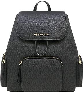 Michael Kors Abbey Cargo PVC Backpack (BLACK/BLACK)