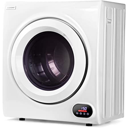 Euhomy Compact Laundry Dryer 2.6 cu.ft, Stainless Steel Clothes Dryers With Exhaust Pipe, Four-Function Portable Dryer For Apartments, Home, Dorm, White