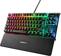 SteelSeries Apex 7 TKL Mechanical Gaming Keyboard, OLED Display, Red Switches, Nordic QWERTY Layout