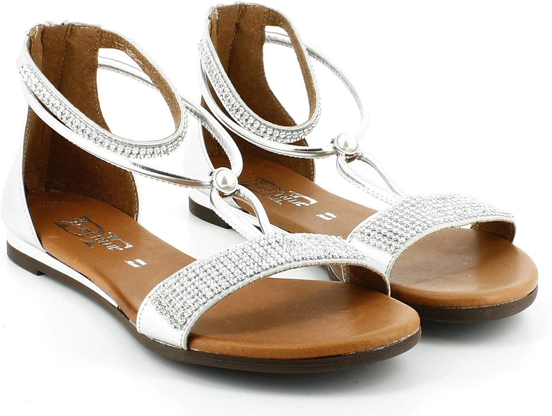 Divine Follie Damen Damen Damen Flache Sandaletten  21b34d