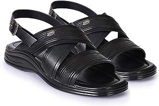 Action Shoes Men's Black Fisherman Sandals  - 8 UK (42EU) (3354-BLACK)
