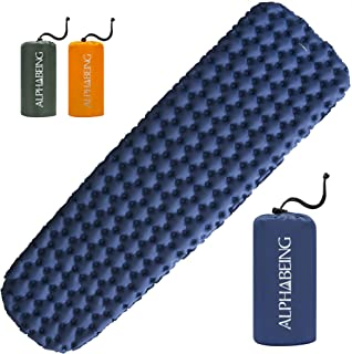AlphaBeing Camping Sleeping Pad - Ultralight Inflatable Mat for Hiking, Backpacking Air Mattress - Portable & Compact Sleep Pads