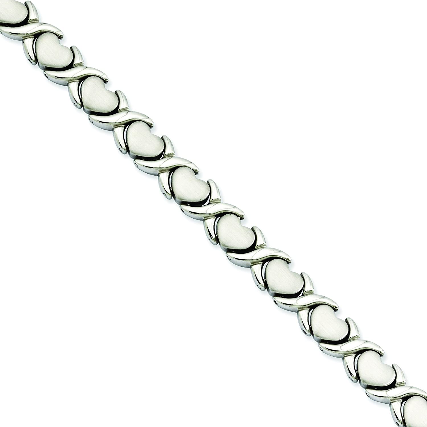 Shop4Silver Stainless Steel Stampato Very popular 7.5in High material Bracelet