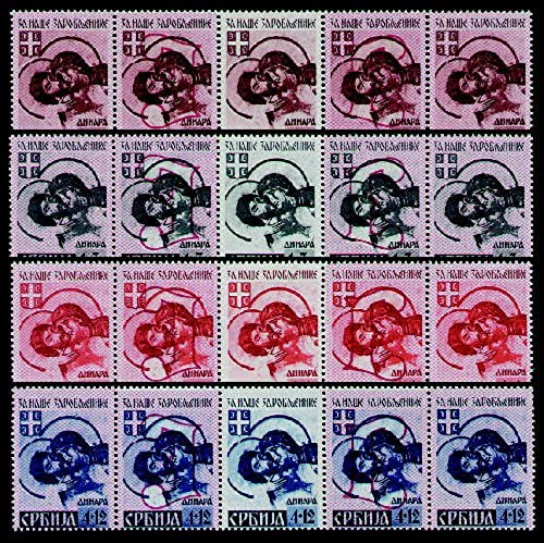 Goldhahn Deutsche Besetzung Serbien postfrisch Nr.54,55A,56A,57A 5er-Streifen - Briefmarken für Sammler