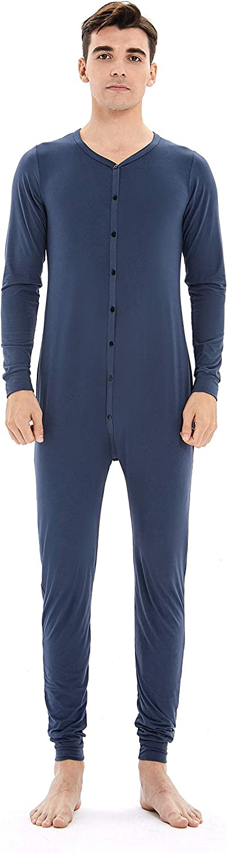 Mens Onesie Product Pajamas Button Down Long Sleeve Piece wholesale One Suit Union