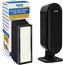 VEVA 8000 Elite Pro Series Air Purifier HEPA Filter & 4 Premium Activated Carbon Pre Filters Removes Allergens, Smoke, Dus...