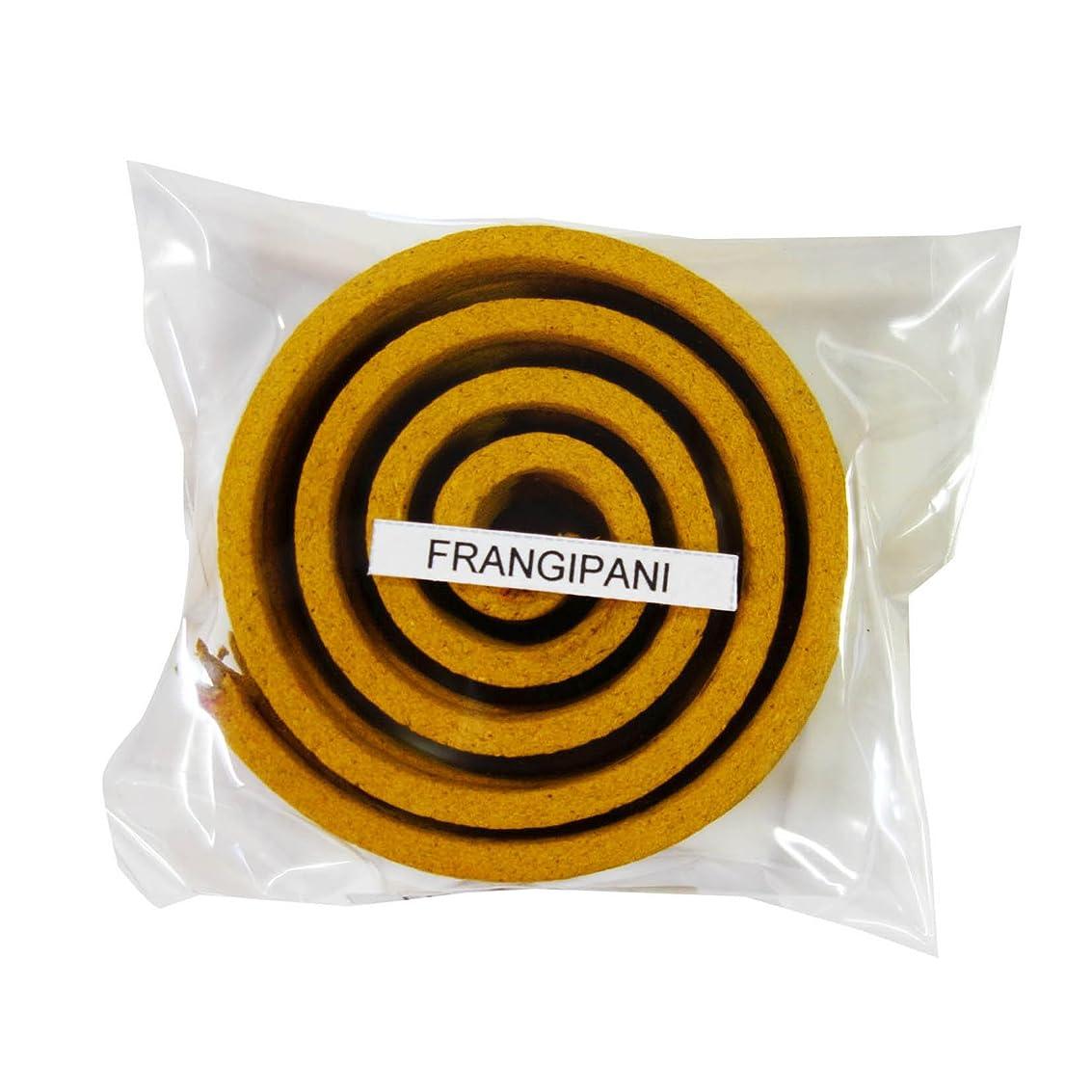 老朽化した先例パターンお香/うずまき香 FRANGIPANI フランジパニ 直径6.5cm×5巻セット [並行輸入品]