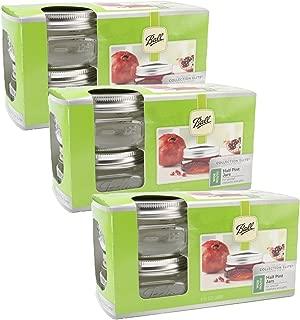 Ball Jar Ball collection elite half pint jars, wide mouth, set of 12, 3.6 Pound