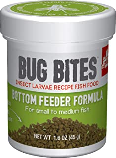 Fluval A6586 Bug Bites Bottom Feeder Granules 1.59 oz, Small to Medium Fish