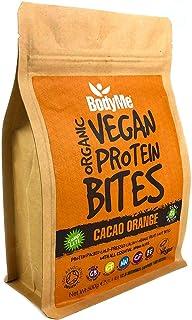 BodyMe Organic Vegan Protein Bites | Raw Cacao Orange | 500g (100 Bites) | With 3 Plant Proteins