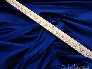 True Blue Shantung Dupioni Faux Silk Fabric Per Yard