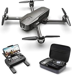 Holy Stone ドローン GPS搭載 折り畳み 4K広角カメラ付き フライト時間26分 収納ケース付き ブラシレスモーター オートリターンモード フォローミーモード オプティカルフロー 高度維持 ヘッドレスモード 2.4GHz モード1/...