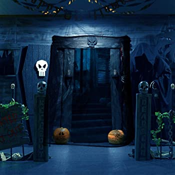 Creepy Cloth Black Halloween, Sunlier Gauze Spooky Halloween Decorations for Haunted Houses Party Doorways Outdoors, 5.5 Yards X 79''