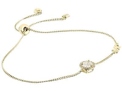 Michael Kors Precious Metal-Plated Sterling Silver CZ Charm Slider Bracelet (Gold) Bracelet