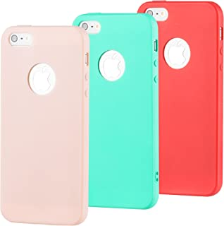 3bed118e107 zoeview 3 x Funda para iPhone SE 5S 5 Silicona, Carcasa para iPhone 5 5S