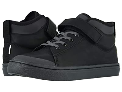 TOMS Kids Cusco (Little Kid/Big Kid) (Black Leather) Kid