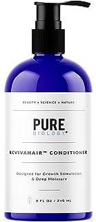 Acondicionador estimulante para el crecimiento del cabello (unisex) con biotina, queratina y complejo antipérdida de cabello – Champú de poste de hidratación intensiva para hombres y mujeres