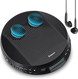 Portable CD Player with Stereo Speakers and Headphones, Personal Compact Disc CD Player with LCD Display, Anti-Skip/Shockp...