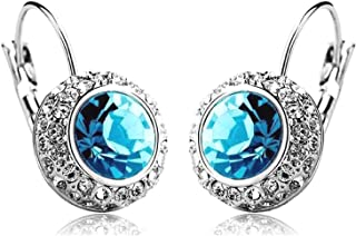 f926505a0 Shining Diva Blue Platinum Plated Crystal Clip-On Earrings For Women/Girls