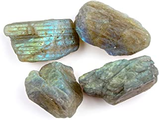 Jaguar Gems 100cts Rough Labradorite Raw Stone, Gemstones and Raw Crystals, Jewelry Making Supplies, Loose Crystals, Natural Gemstones, Chakra Healing Crystals, Handpicked Jewelry Gemstones
