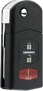KeylessOption Keyless Entry Car Remote Control Uncut Key Fob Replacement for Mazda 3 6 KPU41788