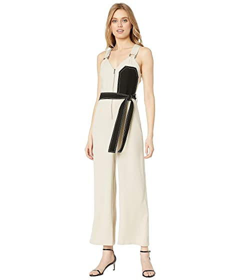 YIGAL AZROUËL Sleeveless Overall with Chest Patchwork