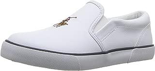 POLO RALPH LAUREN Kids Boys' BAL Harbour II Sneaker, White Tumbled, 11.5 Medium US Little Kid