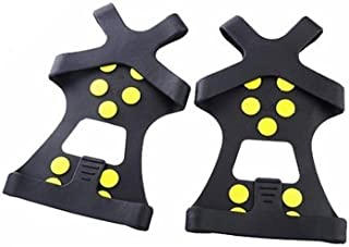 Ice Snow Grips Ice Cleats for Shoes and Boots/Snow Tractions Cleats Grippers Rubber Spikes Footwear Crampon for Men Women Youth Kids Walking Jogging Hiking