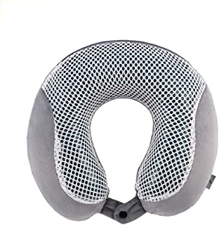 Gel U-Pillow Portable Travel Neck Pillow Flying Pillow Protection Shoulder Neck AAUU (Color : Gray)