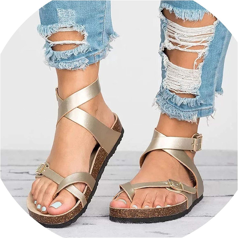Monica's house Basic Women Sandals Plus Size 43 Leather Flat Sandals Female Flip Flop Casual Beach shoes Ladies