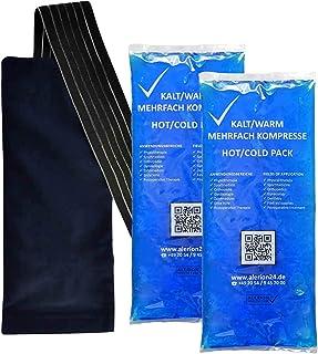 4 stycken 12 cm x 29 cm + 2 premium fleecefodral kall varm kompression flera gånger återanvändbar coolpack mikrovågsugnar ...
