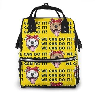It Dog Yellow Multi-Function Travel Backpack Nappy Bag,Fashion Mummy Bag