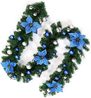 Amazon Com Blue Wreaths Garlands Swags Seasonal Decor Home