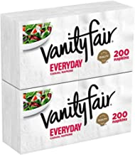 Vanity Fair Everyday Napkins, White Paper Napkins, 200 Napkins, Pack of 2
