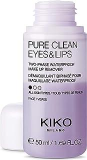 KIKO Milano Pure Clean Eyes & Lips Mini | Resestorlek tvåfas sminkborttagare för ögon och läppar