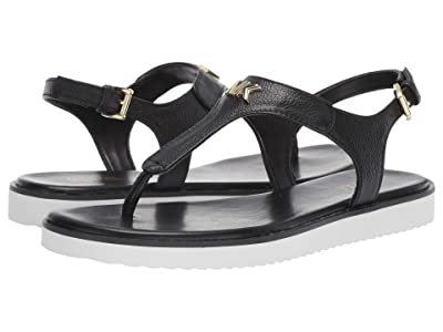 MICHAEL Michael Kors Brady Thong (Black Tumbled Leather) Women