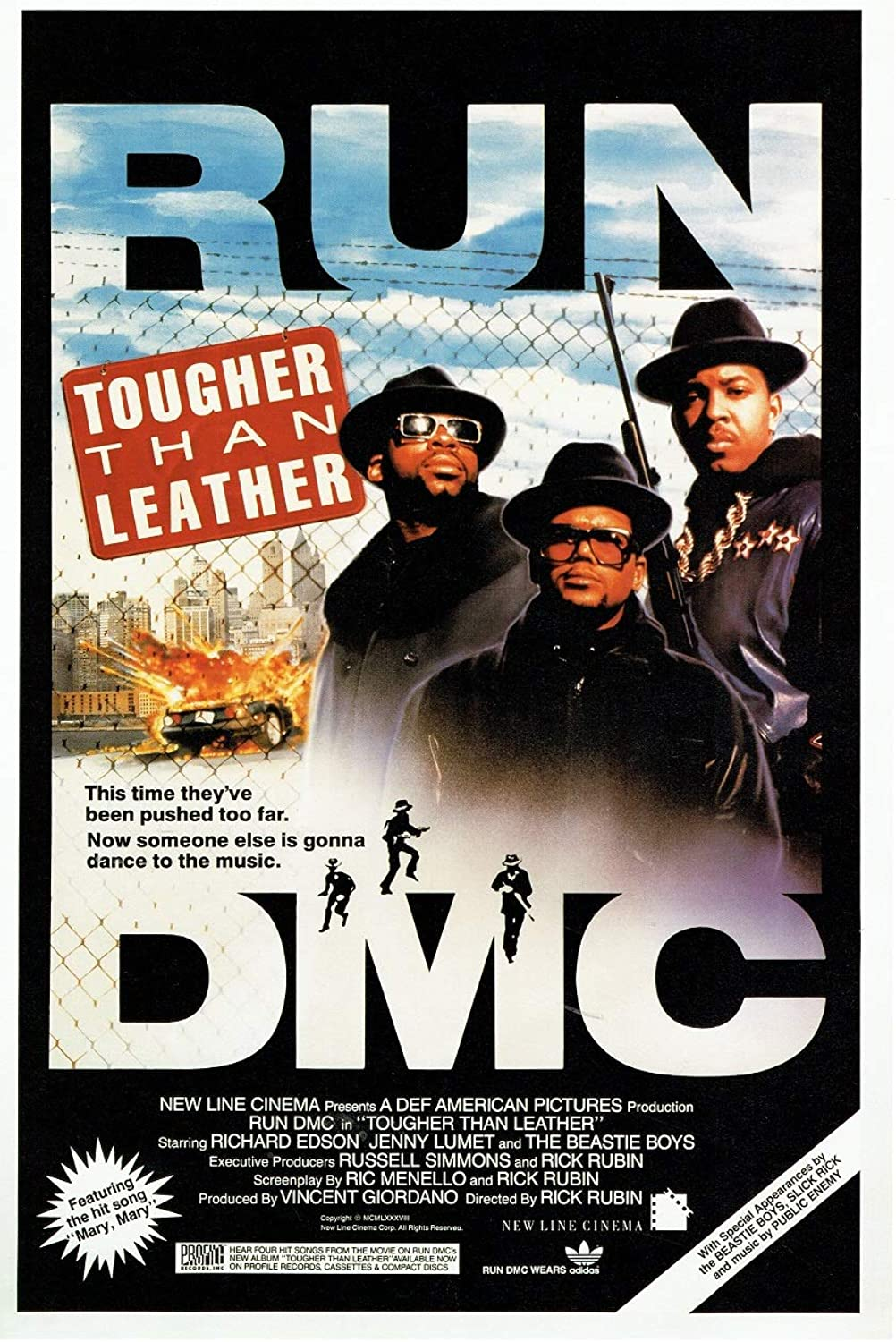 Black Creations Tougher Than Leather US 1986 Film Poster Canvas Picture Art Print Premium Quality A0 A1 A2 A3 A4 (A0 Canvas (30 40))