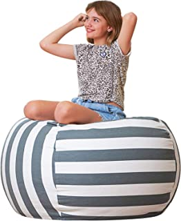 Aubliss Stuffed Animal Bean Bag Storage Chair, Beanbag Covers Only for Organizing Plush Toys, Turns into Bean Bag Seat for...
