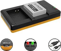 Batteria + Caricabatteria doppio (USB) per NB-10L / Canon PowerShot G15, G16, G1 X, G3 X, SX40 HS, SX50 HS, SX60 HS (Cavo USB micro incluso)