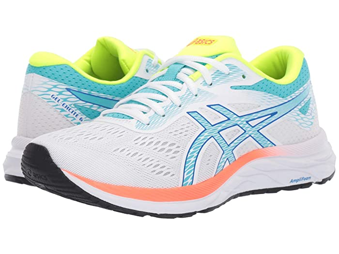 ASICS  GEL-Excite 6 (White/Ice Mint) Womens Running Shoes