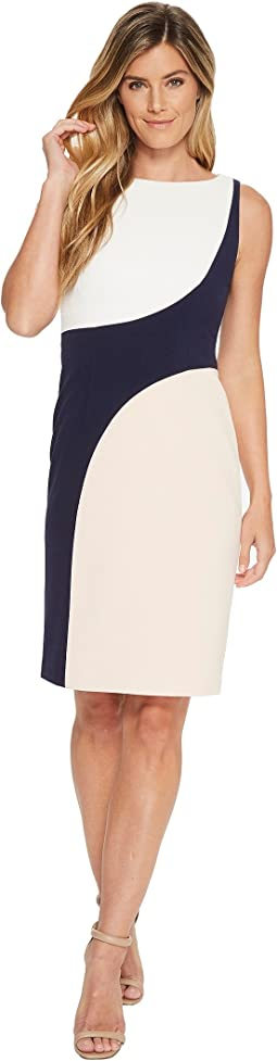 Sleeveless Color Block Bodycon Dress