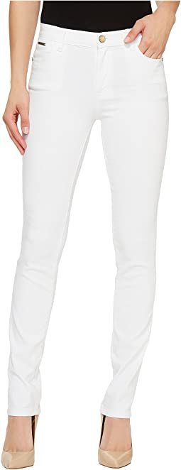 Denim Skinny Jeans in White