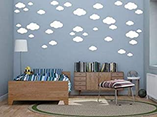 White Clouds Sky Wall Vinly Wall Decals/Stickers +