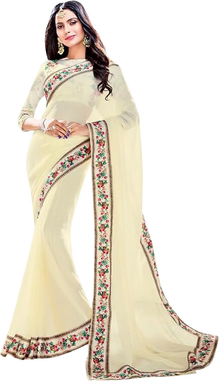 Bollywood Satin Swarovski Work Saree Sari Blouse Wedding Ceremony Party