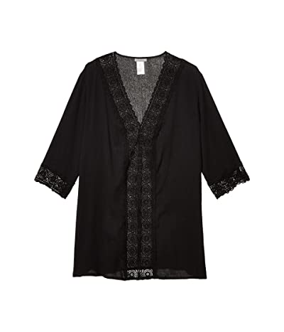 La Blanca Plus Size Island Fare Tunic Cover-Up (Black) Women