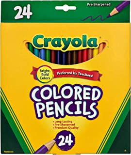Crayola, 24 Coloured Pencils,  Strong Leads, Bright Colours, Art and Craft, School booklist, Premium, Back to School, Creativity